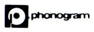Logo sigle editions Phonogram label production musicale maison de disque Serge Gainsbourg Gainsbarre billet concert tour 88